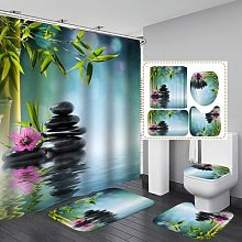 Bambou pierre Zen SPA Polyester tissu rideau de