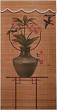 Bambou Rideau Bambou stores blackout rétro bambou