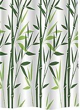 Bambou Rideau de Douche en Textile, 180cm x 200cm