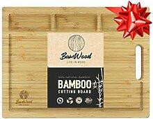 Bamwood Planche à Découper en Bambou Bio - 3