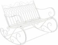 Banc à bascule de jardin vintage robuste meuble