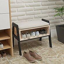 Banc à chaussures empilable en bois avec espace