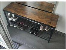 Banc à chaussures étagère à chaussures 100cm