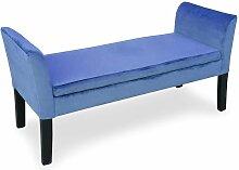 Banc coffre Idor Velours Bleu - Bleu