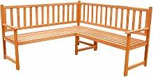 Banc d'angle banc de jardin banc en bois, 149
