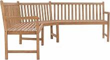 banc d'angle de jardin 202x202x90 cm bois de