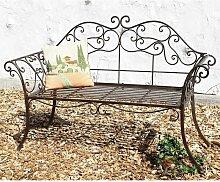 Banc de Jardin 111183 2 Brun Banc 146cm en Fer