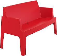 Banc de jardin 'PLEMO XL' rouge en