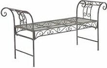Banc de jardin vintage meuble design solide pour