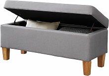 Banc de lit LILLE coffre de rangement avec assise