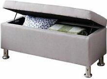 Banc de lit nizza coffre de rangement avec assise