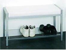 Banc de rangement chaussures enja 80x48x32 cm