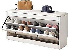 Banc de rangement pour chaussures de 32 pouces,