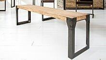 Banc design industriel bois et métal 160 cm - Jorg