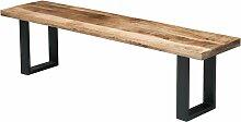 Banc design industriel bois et métal 170 cm -