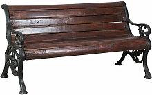 Banc en bois massif et fonte L160xPR65xH75 cm