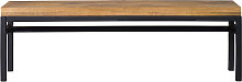 Banc industriel manguier massif et métal L140 cm