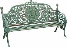 Banc realisé en Art Nouveau finition verte