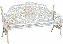 Banc realisé en fonte Art Nouveau finition blanche