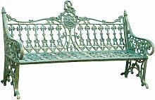 Banc style Art Nouveau en fonte finition blanc