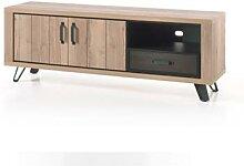 Banc TV 180 cm couleur chêne naturel ARCHIBALD
