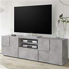 Banc TV 180 cm design gris effet béton ARTIC 4