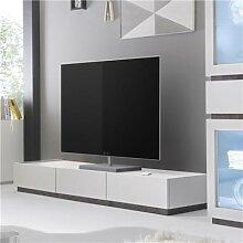 Banc TV design blanc 3 tiroirs VALERONA 2