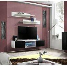 Banc TV - Fly I - 160 cm x 30 cm x 40 cm - Blanc