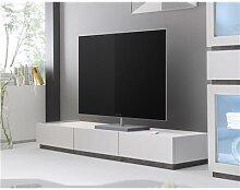 Banc TV gris ou blanc 3 tiroirs LEGOS 3