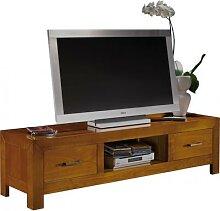 Banc TV/Hifi 1 niche 2 tiroirs