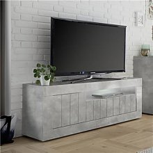 Banc TV moderne effet béton gris SERENA 2