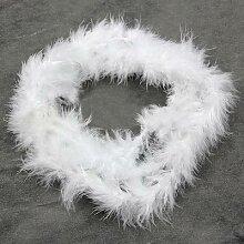 Bande Boa en plumes naturelles blanches pour arbre