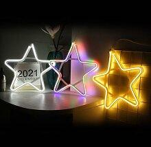 Bande de lampe Flexible en Silicone cinq étoiles,