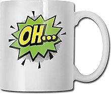 Bande dessinée Comique Oh Pop Art Tasse À Café