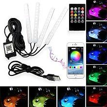 Bande lumineuse RGB DRL avec télécommande pour