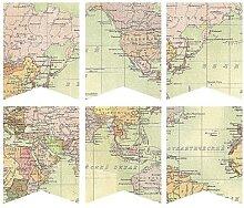 Banderole de carte du monde ancien, guirlande de