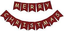 Banderole de Noël en papier avec inscription «