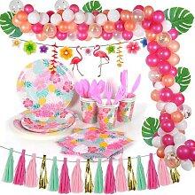Banderole de table jetable rose avec flamand rose,