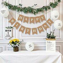 Banderole décorative en papier Kraft, ballons