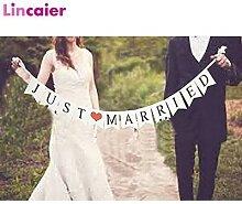 Banderole en papier Vintage Just Married,