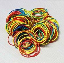 Bandes en caoutchouc colorées de 38 mm, 100