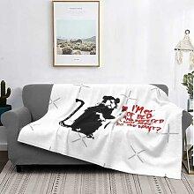Banksy – couverture de luxe en coton, couvre-lit