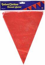 Bannière Beistle rouge à fanion, taille unique