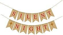Bannière de noël nuit silencieuse lettre
