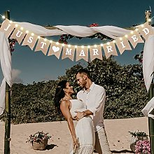 Bannière de Toile Just Married, Bannière de