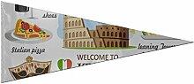 Bannière Drapeaux Décorations Italie Symbole