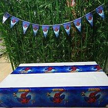 Bannière et nappe enfants Spiderman anniversaire