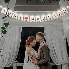 Bannière Just Married, Bannière Bunting de