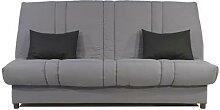 Banquette Clic-clac gris et noir CELINA-L 193 x P