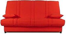 Banquette Clic-Clac rouge DEXTER-L 193 x P 95 x H